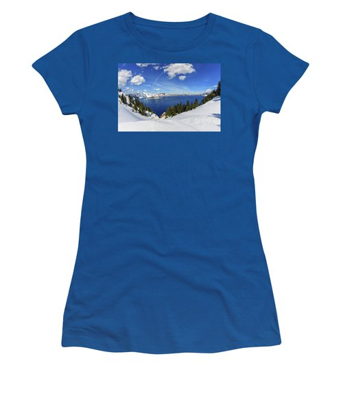 Beautiful Crater Lake Women's T-Shirt (Athletic Fit)