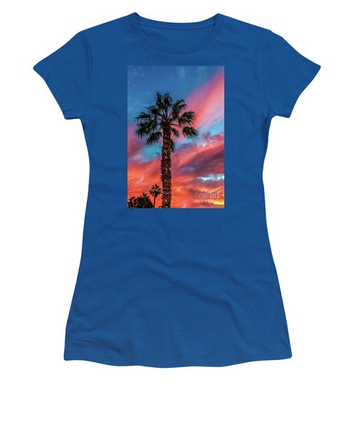 Beautiful Palm Tree Women's T-Shirt (Junior Cut) by Robert Bales