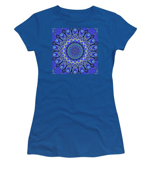 Women's T-Shirt (Athletic Fit) featuring the digital art Bella - Blue by Wendy J St Christopher