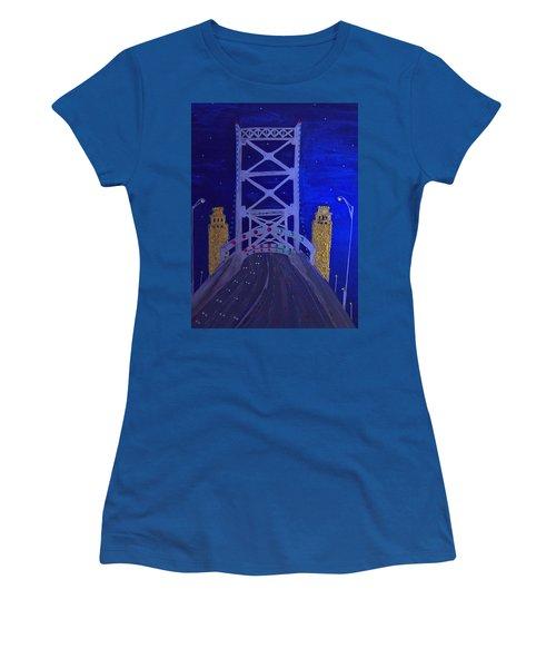 Ben Franklin Bridge Women's T-Shirt (Athletic Fit)