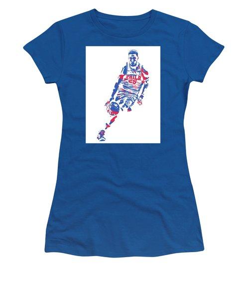 Ben Simmons Philadelphia Sixers Pixel Art 1 Women's T-Shirt