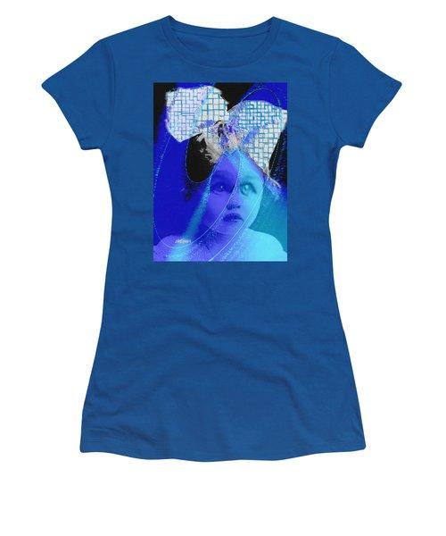 Biddidi-bobbidi-blue Women's T-Shirt (Junior Cut) by Seth Weaver