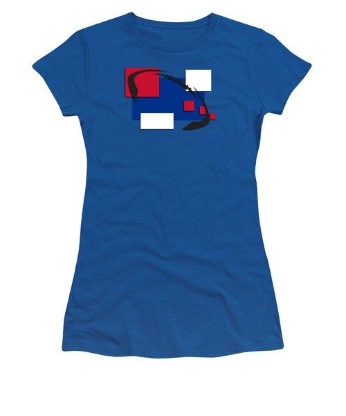 Bills Abstract Shirt Women's T-Shirt (Junior Cut) by Joe Hamilton