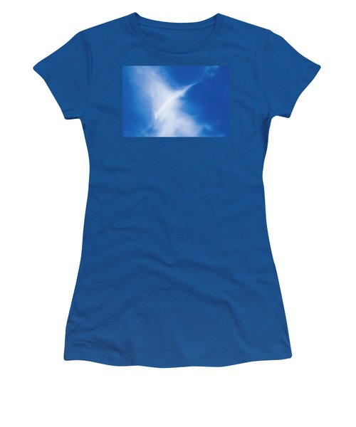 Women's T-Shirt (Athletic Fit) featuring the photograph Bird Cloud by Yulia Kazansky