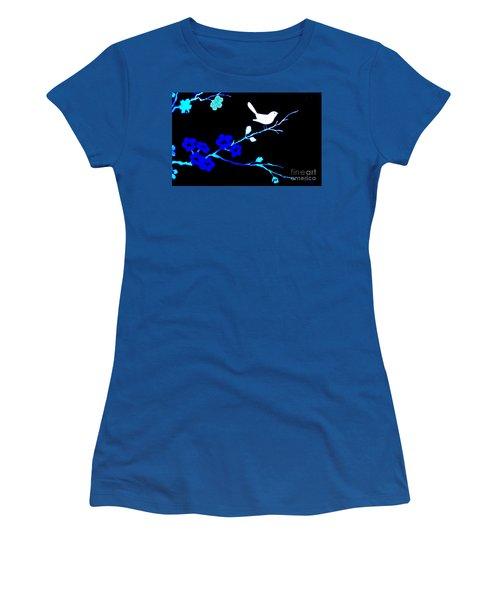 Bird In A Flower Tree Abstract Women's T-Shirt (Junior Cut) by Marsha Heiken