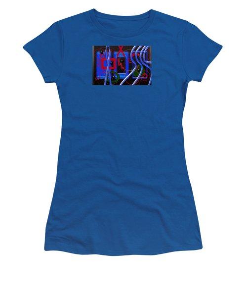 Black Dots Women's T-Shirt (Athletic Fit)