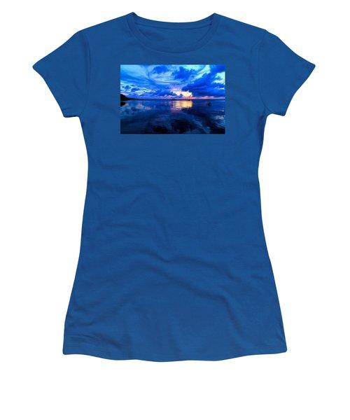 Blazing Blue Sunset Women's T-Shirt
