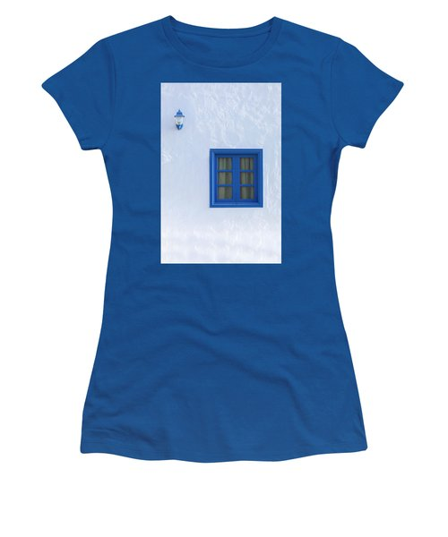 Blue And White Women's T-Shirt