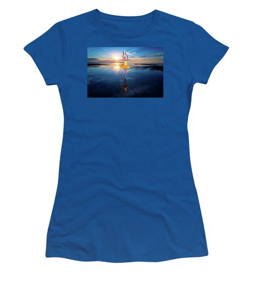 Blue And Yellow 2 Women's T-Shirt (Athletic Fit)
