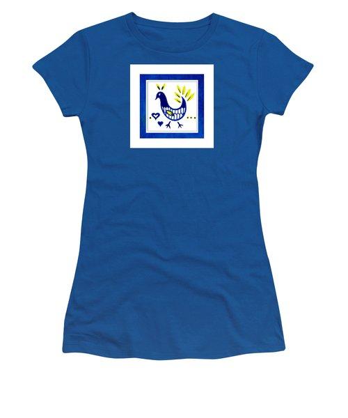 Blue Bird No1 Women's T-Shirt (Junior Cut) by Bonnie Bruno