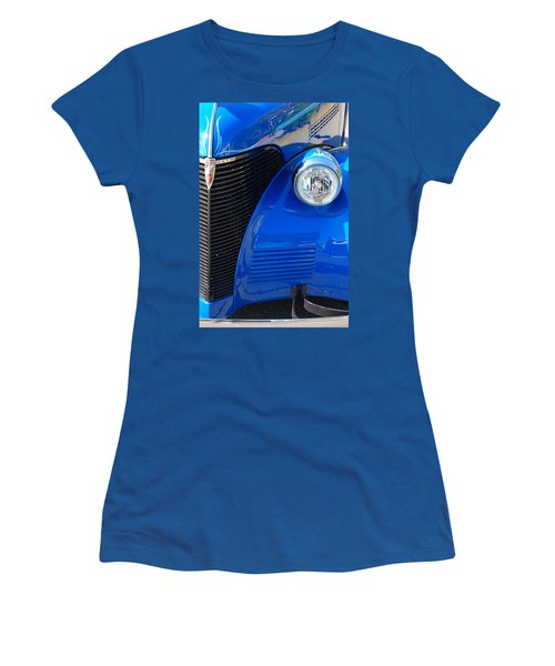 Blue Chevy Women's T-Shirt (Junior Cut) by Donna Bentley
