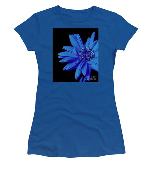 Blue Women's T-Shirt (Junior Cut) by Elfriede Fulda