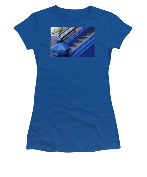 Blue Entry Women's T-Shirt (Junior Cut) by Jim Gillen