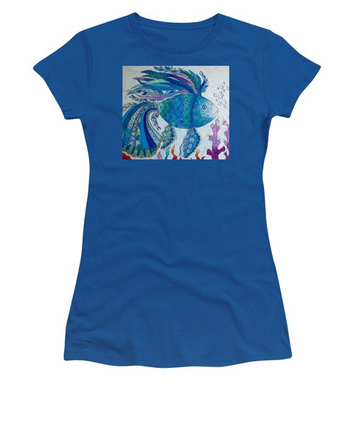 Blue Fish Women's T-Shirt (Athletic Fit)
