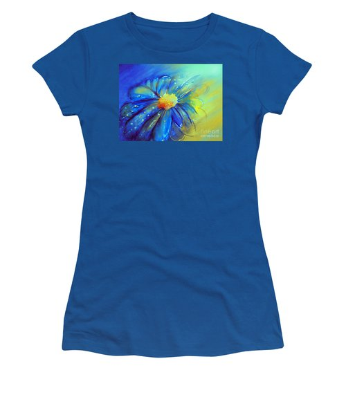 Blue Flower Offering Women's T-Shirt (Junior Cut) by Allison Ashton