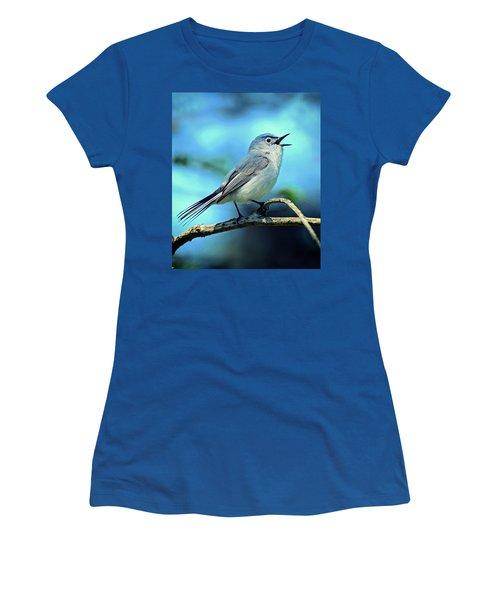 Women's T-Shirt (Junior Cut) featuring the photograph Blue-gray Gnatcatcher by Rodney Campbell