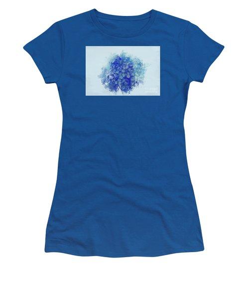 Blue Hortensia Women's T-Shirt (Junior Cut) by Eva Lechner