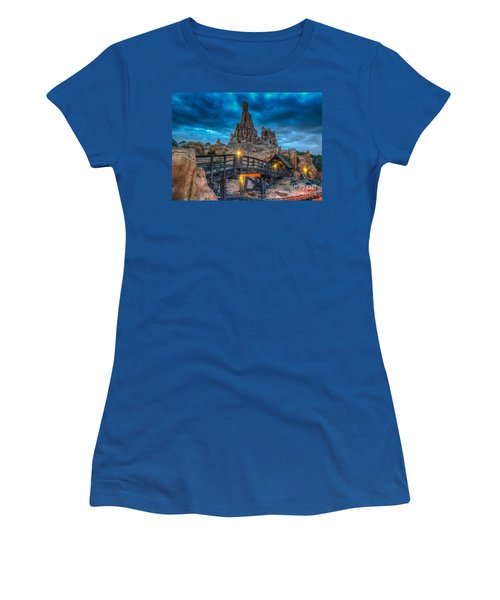 Blue Hour Over Big Thunder Mountain Women's T-Shirt (Athletic Fit)
