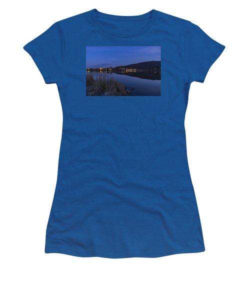 Blue Hour Retreat Meadows Women's T-Shirt (Junior Cut) by Tom Singleton