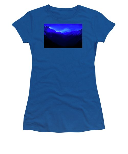Women's T-Shirt (Athletic Fit) featuring the photograph Blue by John Poon
