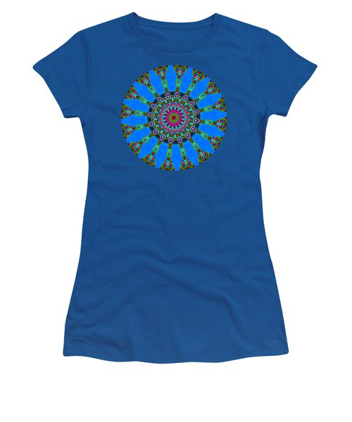 Blue Mandala 4 - Prints With Blue Background Women's T-Shirt