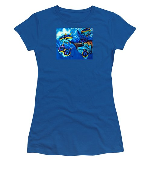 Blue Marlin And Yellowfin Tuna Women's T-Shirt (Athletic Fit)