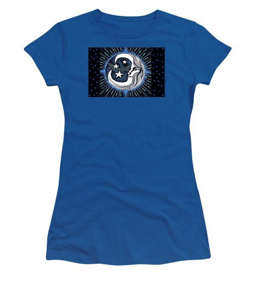 Blue Moon Greeting Card 02 Women's T-Shirt (Athletic Fit)