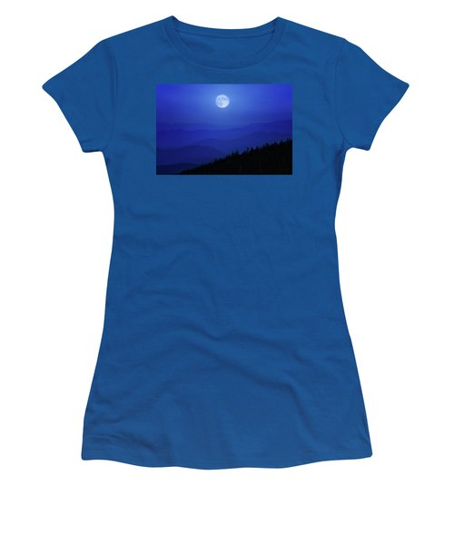 Blue Moon Over Smoky Mountains Women's T-Shirt