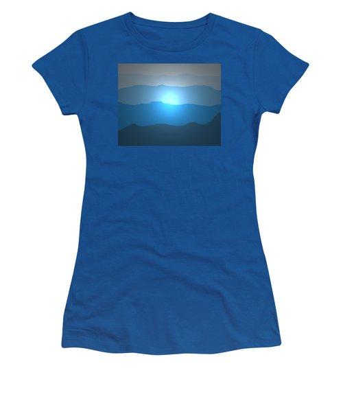 Blue Mountain Sun Women's T-Shirt (Athletic Fit)
