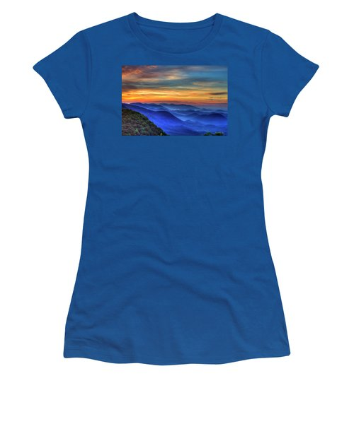 Women's T-Shirt (Junior Cut) featuring the photograph Blue Ridges 2 Pretty Place Chapel View Great Smoky Mountains Art by Reid Callaway