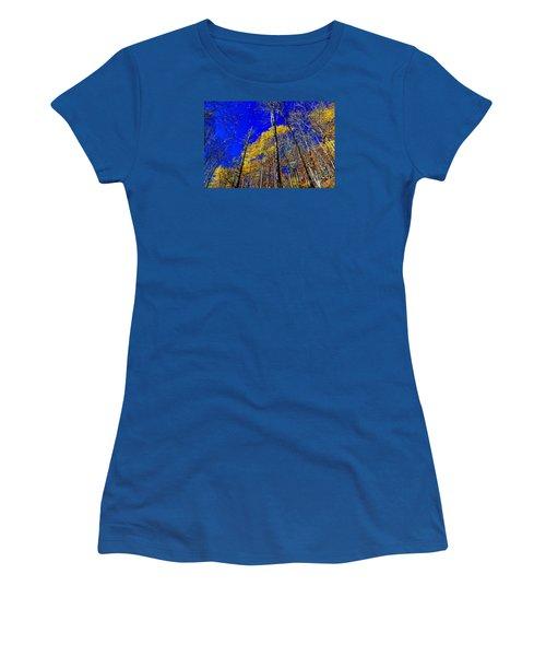 Blue Sky In Fall Women's T-Shirt (Junior Cut) by Paul Mashburn