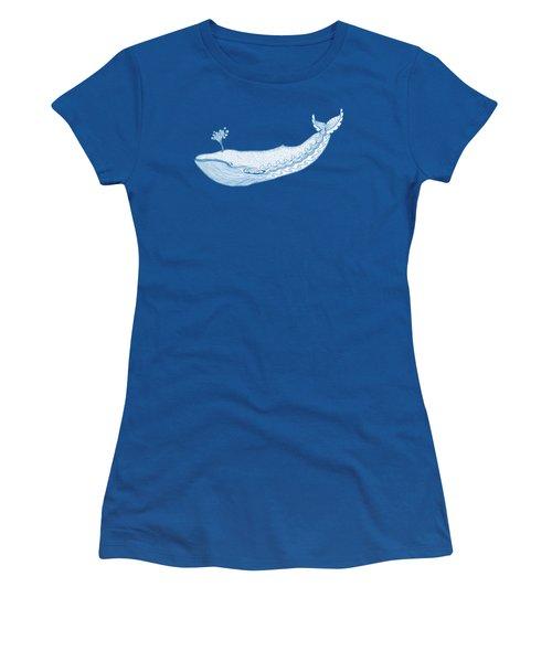 Blue Whale Women's T-Shirt (Athletic Fit)
