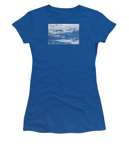 Women's T-Shirt (Junior Cut) featuring the photograph Blue White by Leif Sohlman