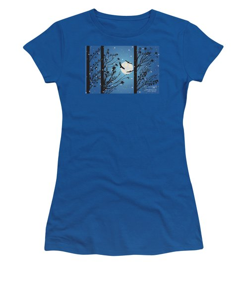 Blue Winter Moon Women's T-Shirt (Athletic Fit)