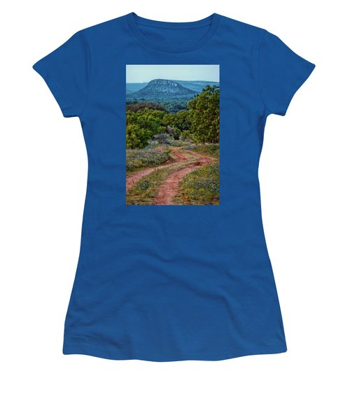 Bluebonnet Road Women's T-Shirt (Athletic Fit)