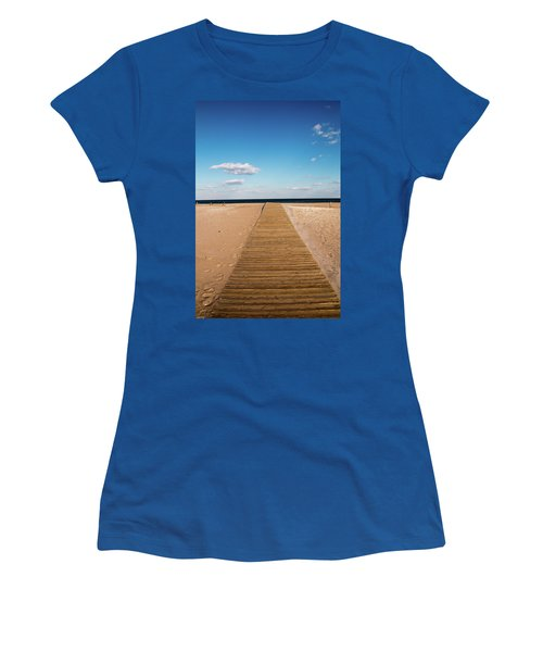 Boardwalk To The Ocean Women's T-Shirt