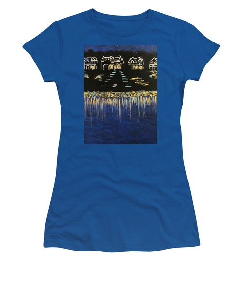 Boathouse Row Women's T-Shirt (Athletic Fit)