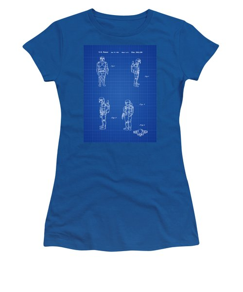 Boba Fett Toy Patent 1982 In Blue Print Women's T-Shirt