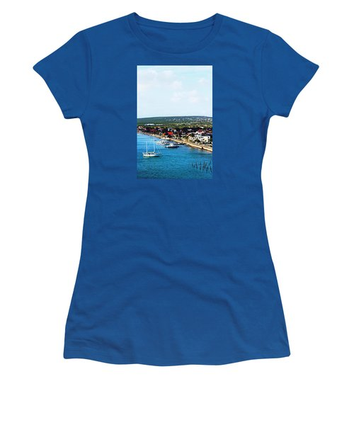 Bonaire Women's T-Shirt (Junior Cut) by Infinite Pixels