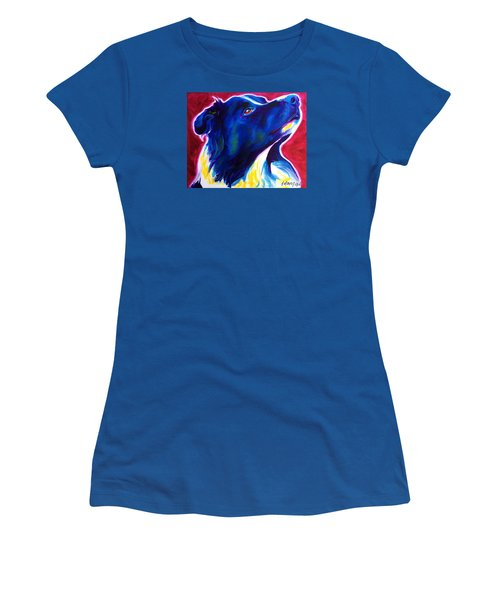 Border Collie - Bright Future Women's T-Shirt (Athletic Fit)