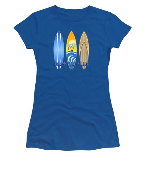 Born To Surf And Tiki Masks Women's T-Shirt