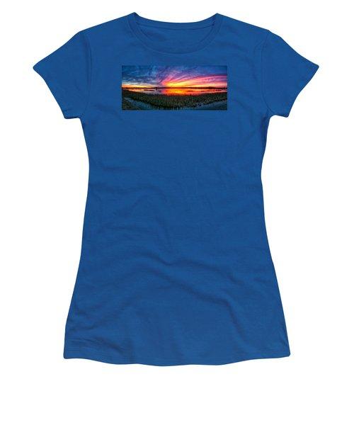 Bosque Sunrise Women's T-Shirt (Junior Cut) by Kristal Kraft