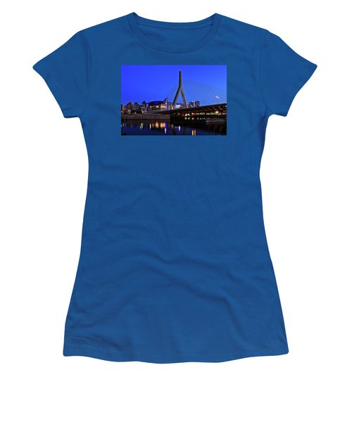 Boston Garden And Zakim Bridge Women's T-Shirt