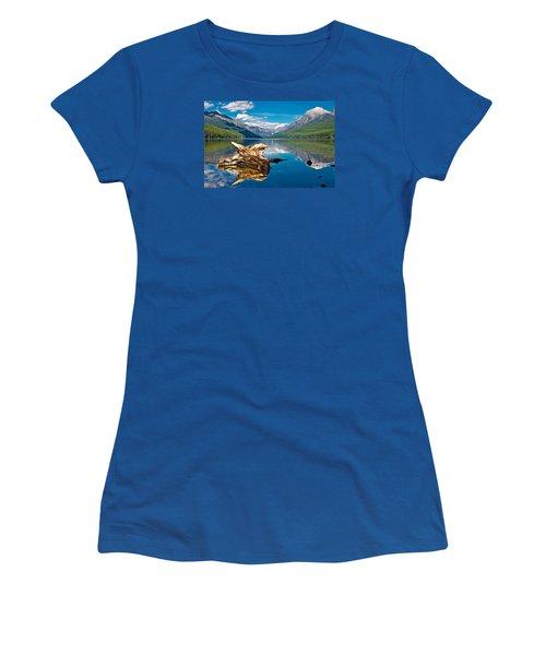 Bowman Lake 1, Glacier Nat'l Park Women's T-Shirt (Athletic Fit)