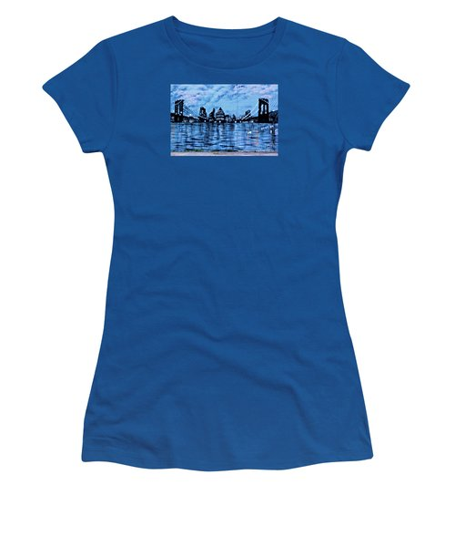 Bridges To New York Women's T-Shirt (Athletic Fit)