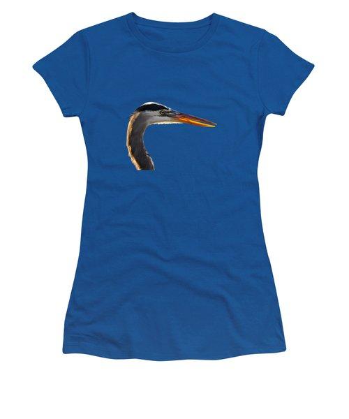 Bright Beak Blue .png Women's T-Shirt (Athletic Fit)