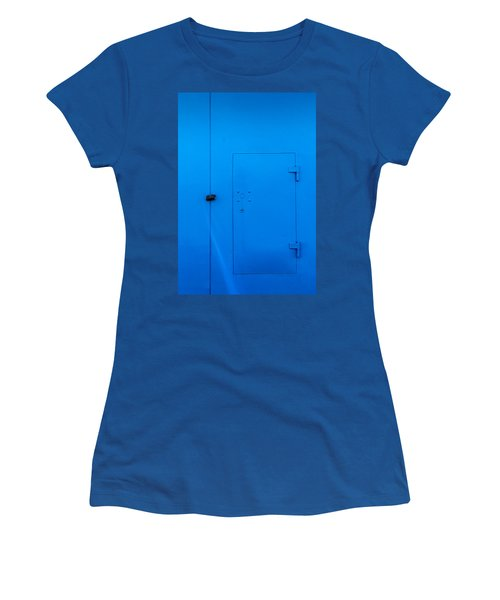 Bright Blue Locked Door And Padlock Women's T-Shirt