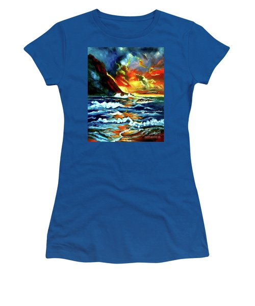 Brilliant Hawaiian Sunset Women's T-Shirt (Athletic Fit)