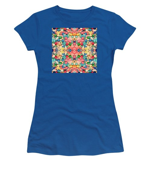 Women's T-Shirt (Athletic Fit) featuring the digital art Bubble Gum #9776 by Barbara Tristan