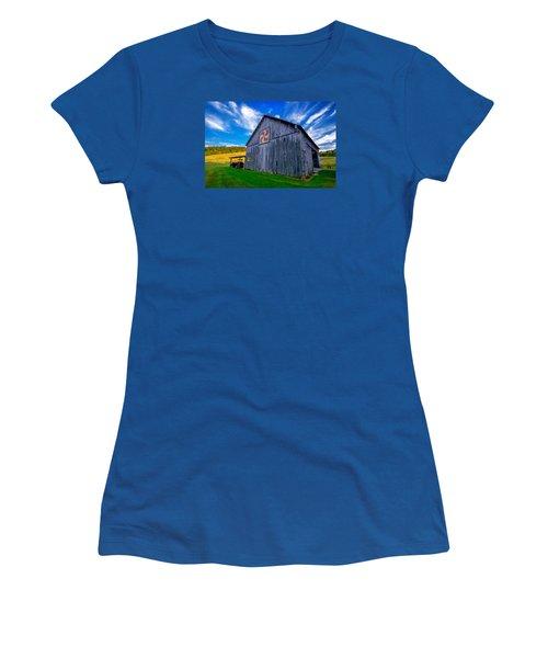 Women's T-Shirt (Junior Cut) featuring the photograph Buckeye Barn 2 by Brian Stevens